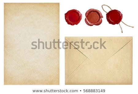 régi · papír · viasz · fóka · háttér · keret · biztonság - stock fotó © nejron