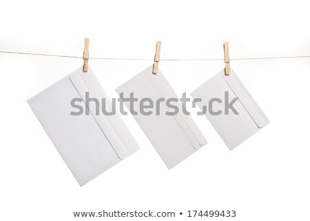 Three Envelope on clothes rope Stock photo © stevanovicigor