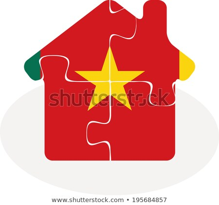 house home icon with Cameroon flag in puzzle Stock photo © Istanbul2009