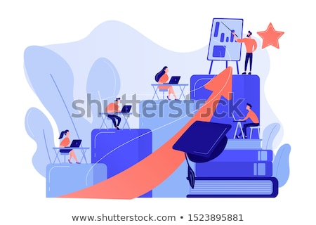 training and development on blue in flat design stock photo © tashatuvango