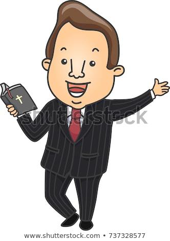 Preacher holding bible  Stock photo © jeffbanke