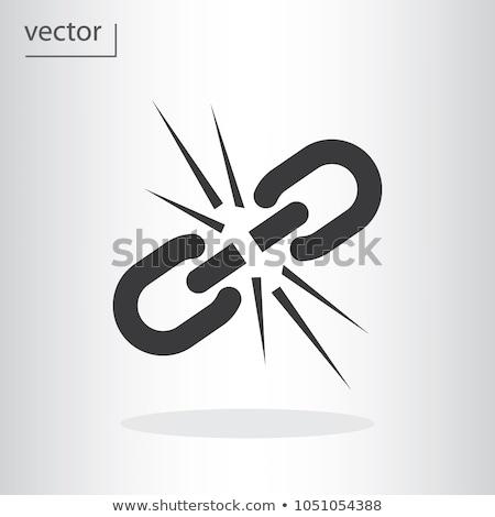 チェーン · 3dのレンダリング · 背景 · 金属 · チェーン · ロック - ストックフォト © lightsource