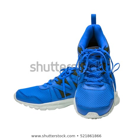 Femme bleu chaussures blanche femmes sexy Photo stock © cypher0x