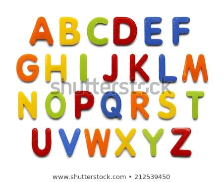 Alphabet baby plastic letters Stock photo © Witthaya