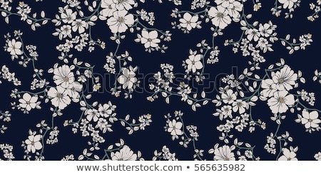 Stock photo: Seamless floral ornament