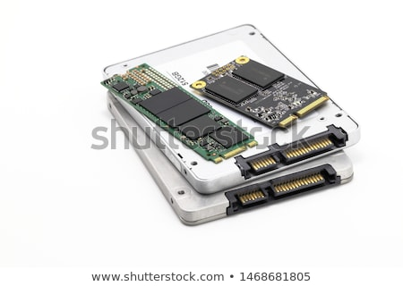 Solid state drive SSD SATA connector isolated on white stock photo © anmalkov
