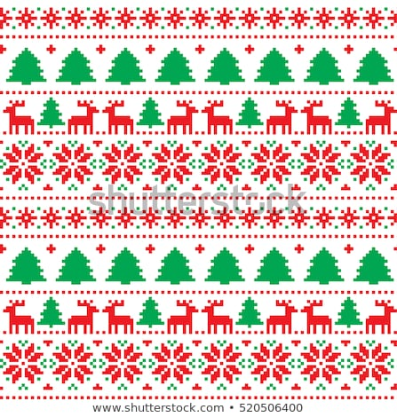 Christmas vector snowflakes designs in pixel style stock photo © Mr_Vector