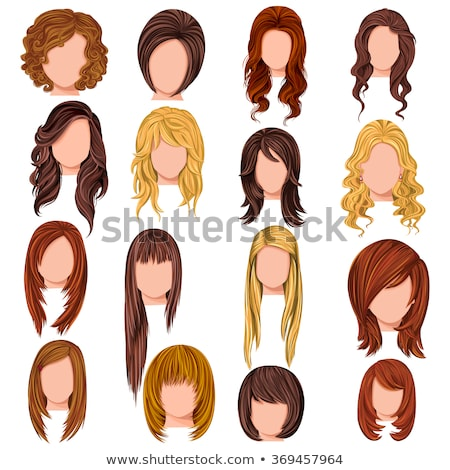 long curly hairstyle vector illustration stock photo © ussr