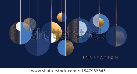 Noel · mavi · fotoğraf · kar - stok fotoğraf © mpessaris