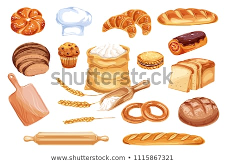 Croissant and fresh bread stock photo © raphotos