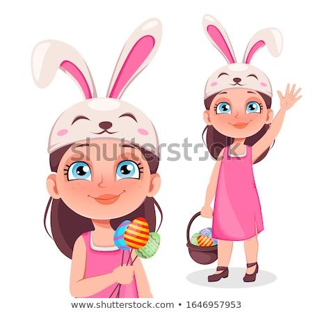 Cute dziewczynka mały koszyka dziewczyna dziecko Zdjęcia stock © Norberthos
