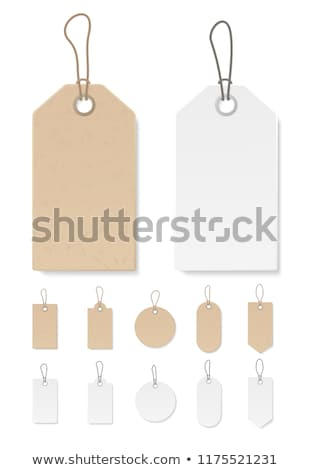 flat paper tag stock photo © kali