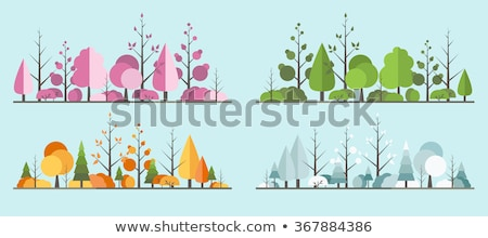 flat designspring landscape stock photo © orson