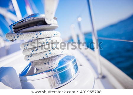 sailboat winch stock photo © tracer
