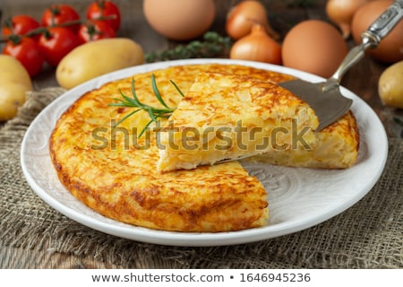Omelette from spain Stock photo © marimorena