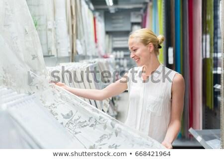 довольно право шторы квартиру Сток-фото © lightpoet