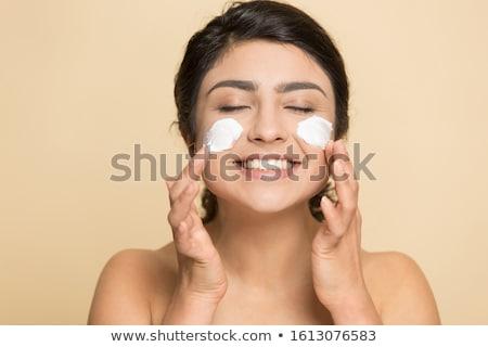 кремом иллюстрация девушки Spa процедура женщину Сток-фото © Vg