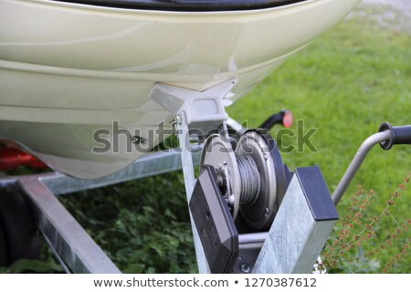 winch on the trailer Stock photo © papa1266