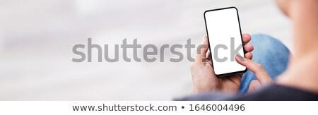 мобильного телефона белый 3D оказанный изображение технологий Сток-фото © blotty