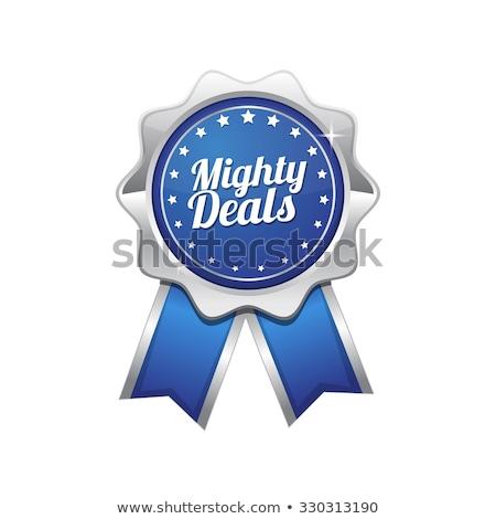 Machtig Blauw vector icon ontwerp Stockfoto © rizwanali3d