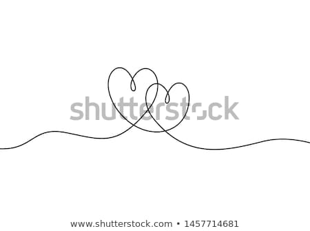 two hearts icon on white background stock photo © tkacchuk
