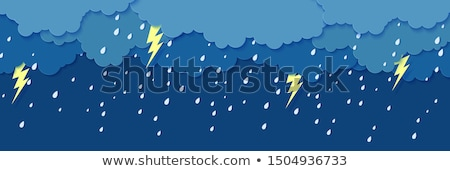 Sağanak yağmur yıldırım soyut arka plan gece Stok fotoğraf © TarikVision