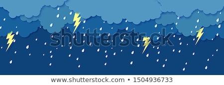 Onweersbui regen bliksem abstract achtergrond nacht Stockfoto © TarikVision