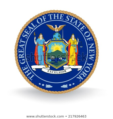 Map on flag button of USA New York State Stock photo © Istanbul2009