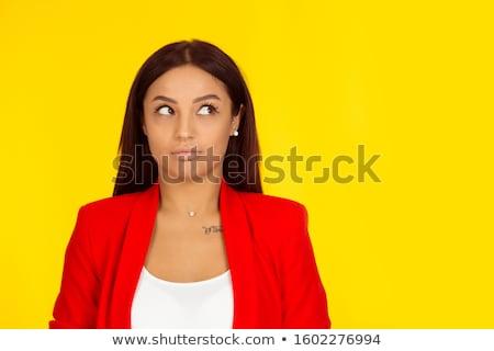 Inteligentes azul rojo sentarse Foto stock © 3mc