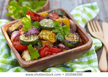 Delicious assorted roast vegetables in a dish Stock photo © ozgur