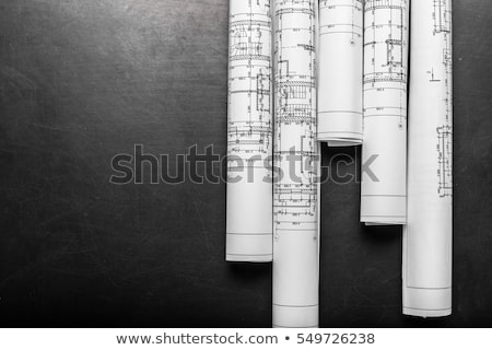 New black architecture plan Stock photo © ylivdesign