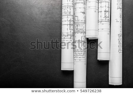 új · fekete · építészet · terv · építészeti · egyedi - stock fotó © ylivdesign