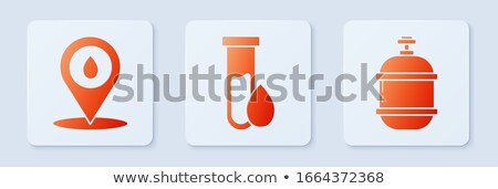orange button with the image maps of button Butane Stock photo © mayboro