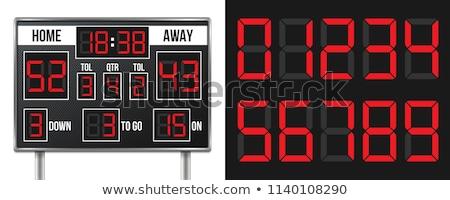 Amerikaanse voetbal scorebord infographics achtergrond veld Stockfoto © m_pavlov