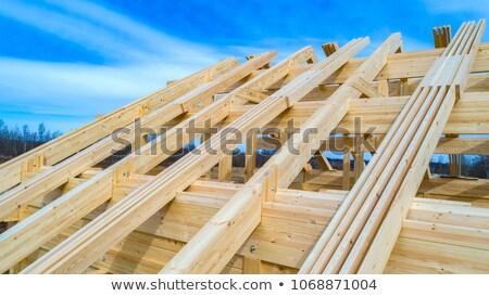 Tetto scheletro legno casa costruzione home Foto d'archivio © smuki