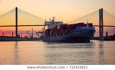 Cargo port, Georgia Stock photo © joyr