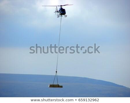 militaire · vervoer · vliegtuig · vliegen · rechtdoor · Blauw - stockfoto © zhukow