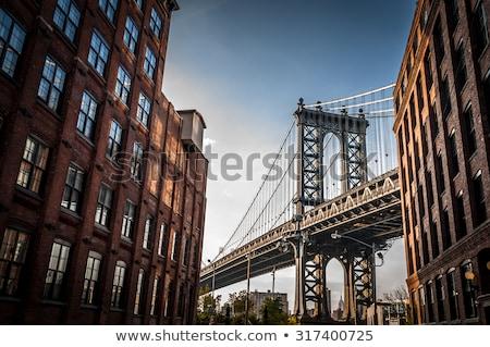 Manhattan puente verano día ciudad azul Foto stock © Elnur