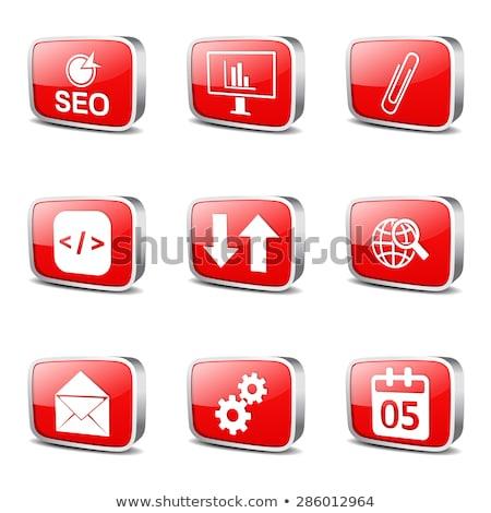 seo internet sign square vector red icon design set 6 stock photo © rizwanali3d