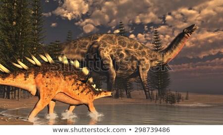 Dinozaur 3d face deal cer apă natură Imagine de stoc © mariephoto