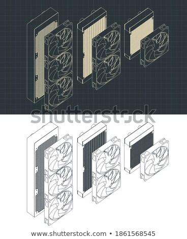 Verschillend gestileerde vector collectie graphics eenheid Stockfoto © tracer
