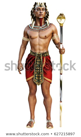 The man in the image of ancient Egyptian Pharaoh  Stock photo © master1305