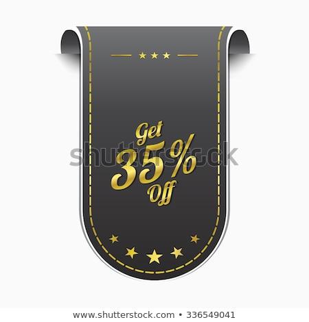 Get 35 percent golden Vector Icon Design Stock photo © rizwanali3d