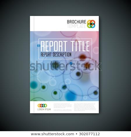 modern vector abstract microscopy brochure template stock photo © orson