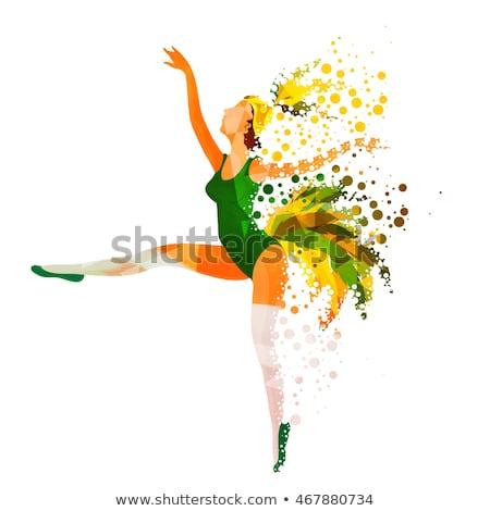 Elegáns póz szamba táncos teljes alakos nő Stock fotó © stockyimages