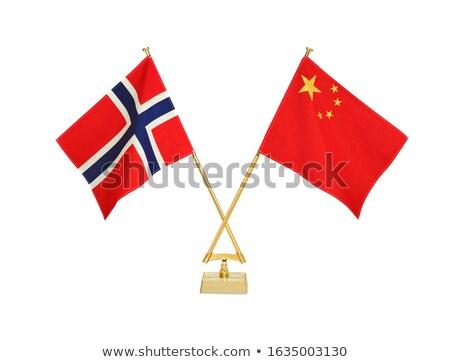 Norwegia · banderą · grunge · obraz · szczegółowy - zdjęcia stock © tashatuvango