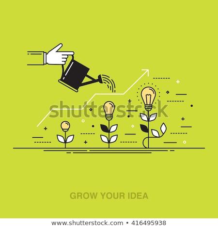Przedsięwzięcie pomysł wynalazek ikona kości Zdjęcia stock © Lightsource