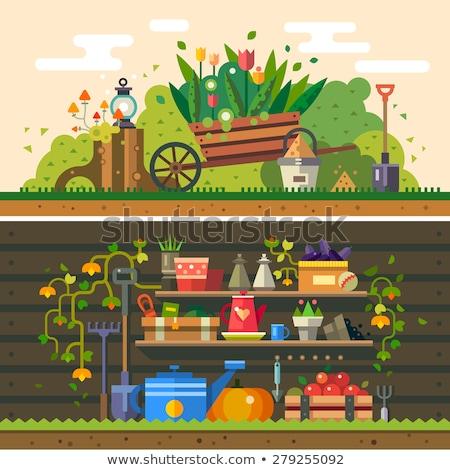 вектора · стиль · весны · саду · объекты · коллекция - Сток-фото © anna_leni