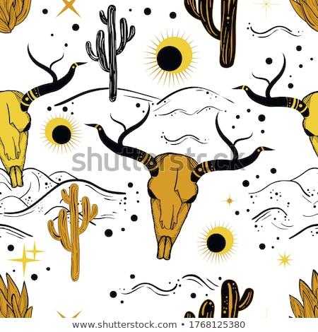 perigo · vaqueiro · americano · chapéu · de · cowboy · fumar · charuto - foto stock © netkov1