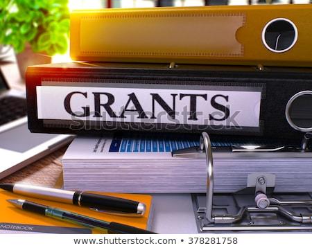 Grants on Office Folder. Toned Image. Stock photo © tashatuvango